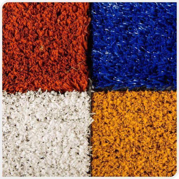 Фото разные цвета разметки для спортивной, футбольной искусственной травы JUTAgrass