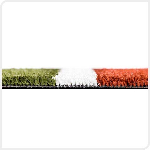 Фото Match 15 искусственная спортивная трава для тенниса бок с разметкой