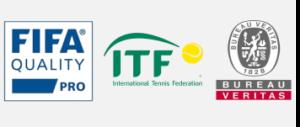 Картинка лого сертификации качества искусственных газонов JUTAgrass международными организациями