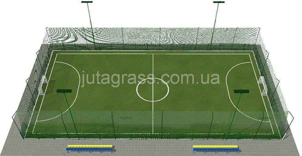 Разметка мини-футбольного поля схема 3D JUTAgrass