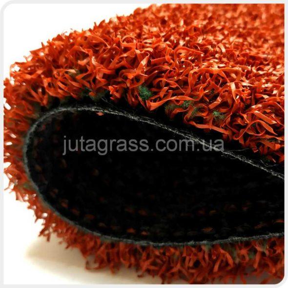 Фото Play Comfort JUTAgrass искусственной спортивной травы красного цвета