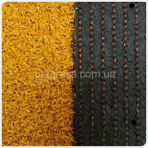 Фото Play Comfort JUTAgrass искусственной спортивной травы желтого цвета