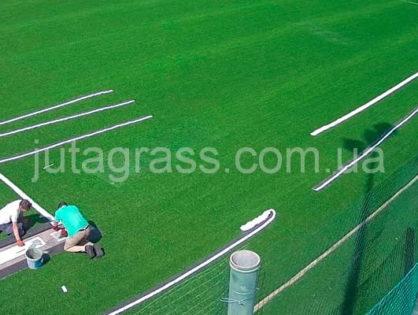 Обзор строительства искусственного футбольного поля в Запорожье, ФК «Металлург»