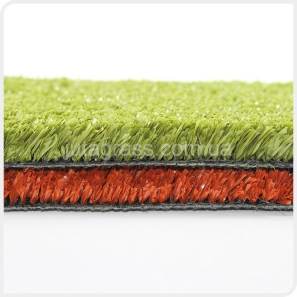 Фото искусственная трава jutagrass game для тенниса красная зеленая 2