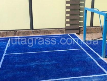 Спортивная площадка для бадминтона с искусственной травой Boat синего цвета